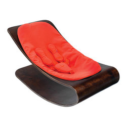 bloom - Bloom Coco Cappucino Stylewood Baby Lounger, Rock Red - Coco stylwood belongs in contemporary living spaces with its iconic form and comfortable nest for baby formed in stylwood coco stylewood has a smooth self-rocking motion, naturally soothing to baby.  Features
