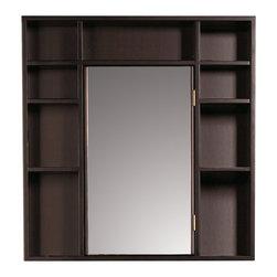 Decolav - Decolav 9700-RM Frame Medicine Cabinet - Decolav 9700-RM Wood Frame Medicine Cabinet w/ Double-Sided Mirror