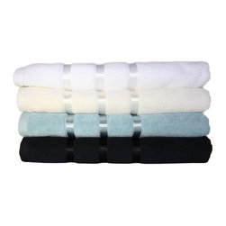 Austin Horn Classics - Austin Horn Classics Hotel Collection 3-piece Towel Set - Adding a practical and decorative element to bathroom decor, this towel set absorbs and dissipates into plush terry cotton fibers. Each piece retains its handsome appearance even after regular use and machine washing.