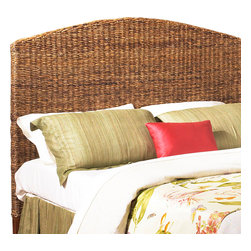 Wicker Paradise - Wicker Seagrass Full Headboard - This attractive full size headboard is woven with banana leaf and framed on solid wood. It adds a bright and tropical feel to your bedroom collection. The shades of seagrass allow this piece to be easily combined with your existing furniture. Hardware is not included.