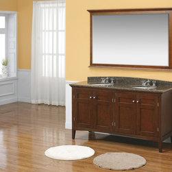 "60"" Trieste Double Sink Vanity - Mahogany (147-527-5161) -"