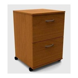 Nexera - Essentials 2 Drawer Mobile Storage Unit (Capp - Finish: Cappuccino2 Drawers. Made of engineered wood. Pictured in Cappuccino. Assembly required. 19 in. W x 18 in. D x 27 in. H (50 lbs.)The Essentials Collection features quality products with metal glides and handles, rich tuff coat laminate finishes and solid commercial construction bringing functionality and aestheticism to your work environment.