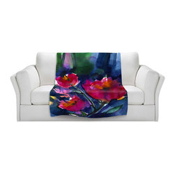 DiaNoche Designs - Throw Blanket Fleece - Floral Dreams - Original Artwork printed to an ultra soft fleece Blanket for a unique look and feel of your living room couch or bedroom space.  DiaNoche Designs uses images from artists all over the world to create Illuminated art, Canvas Art, Sheets, Pillows, Duvets, Blankets and many other items that you can print to.  Every purchase supports an artist!