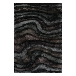 Loloi Rugs - Loloi Rugs Glamour Shag Collection - Midnight, 7' x 11' - The Glamour Shag Collection takes the shag category to the next level with its chic look and alluring texture. The contemporary collection of soft, thick, textured shags features a subtle color palette with luxe tonal shading and shimmer that gives instant appeal. This smart collection is made in India of 100-percent polyester.