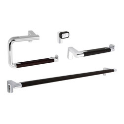 Gedy - Wall Mounted 4-Piece Modern Bathroom Accessory Set in Chrome - Stylish, contemporary 4-piece wall mounted bathroom accessory set which includes towel holder, toilet paper holder, towel bar, and robe hook. Collection made of chromed brass. Bathroom accessory set. Made out of chromed brass. From the Gedy Odos collection. Included in set:. (1) Toilet Paper Holder Gedy 4324-19. (1) Towel Hanger 4370-19. (1) Hook Gedy 4326-19. (1)Towel Bar Gedy 4321-60-19.