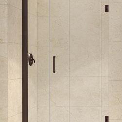 """DreamLine - DreamLine SHDR-20397210-06 Unidoor Shower Door - DreamLine Unidoor 39 to 40"""" Frameless Hinged Shower Door, Clear 3/8"""" Glass Door, Oil Rubbed Bronze Finish"""