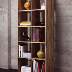 MASHstudios | LAXseries 2 x 5 Bookcase - Bookcase bliss. Browse titles easily on this clean, compartmentalized bookshelf. Your literary collection speaks loudly; your furniture shouldn't.