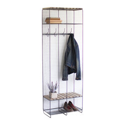 Franklin Wire and Wood Locker - Despite its height, the openness of this wire frame locker allows in plenty of natural light. This unique design also ensures that this piece can be placed just about anywhere without disrupting the flow of the room. Also works well as a mud room closet or as additional closet in a spare room.