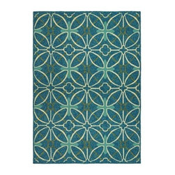 Couristan Fresco Netherlands Indoor / Outdoor Area Rug - Drenched in rich color and durable enough for outdoor use, the Couristan Fresco Netherlands Area Rug has the style your outdoor living space craves. This area rug has a geometric pattern and dazzling color palette that includes aqua blue, faded yellow, gold, moss, robin's egg, and seagrass. It's made of 100% fiber-enhanced courtron polypropylene to resist mold and mildew plus feel incredible underfoot. This rug comes in your choice of size and shape.About Couristan RugsThe renowned Couristan Rug Company is headquartered in Fort Lee, New Jersey. The company continues to take great pride in its 78 year-old commitment to excellence by weaving four key components - Trust, Style, Quality and Innovation into each and every product it imports or manufactures. This commitment has earned the company a long-standing and successful position in the floor covering industry while providing its customers with the highest levels of design, value and customer service.