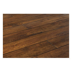 Lamton - Lamton Laminate - 12mm Handscraped Muskoka Collection - [19.6 sq ft/box] - Lake of Bays Rustic Tan -    Laminate floors from the Lamton 12mm Handscraped Muskoka Collection is representative of 21st century flooring technological progress. Be inspired by the natural wood ��_handscraped��_ effects and realistic finish in this collection, but know that its easy installation, attractive price, and durable quality will be what make these surfaces a worthwhile purchase for your home.    Substance and design, brought to you by BuildDirect     The Lamton 12mm Handscraped Muskoka Collection features authentic style with the feel of natural wood, which adds a rustic elegance to your living space. This collection looks and feels like organic wood to touch. The grain patterns and handscraped surface texture, all within a substantial 12 mm board thickness, mimics the most beautiful hardwoods the world has to offer. With the Lamton 12mm Handscraped Muskoka Collection laminate floors, each plank's beveled edges are painted black to replicate a ��_French bleed��_ hardwood look.    At the same time, the glueless click-to-install system is perfected in this collection, with its added melamine wear layer with aluminum oxide. Install it with ease in a wide variety of spaces, including over radiant heat underfloor systems.     BuildDirect means more money in your pocket    At BuildDirect, we can ensure that your interior design project reflects your style rather than your budget. BuildDirect's extremely aggressive pricing means that you'll pay less online for the same product you might find in a big box retail store.    Count on our 25 year residential warranty and 5 year light commercial warranty against staining, fade and wear to make this investment worth your while. Add value to your home with this impressive flooring that we can source to you in the most efficient way there is. Efficiency like this is why you'll pay less for high quality.