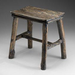 Cyan Design - Vintage Wooden Stool - Vintage wooden stool - pecan