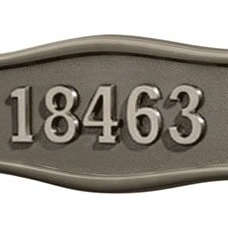 Contemporary House Numbers Gaines Satin Nickel and Bronze Address Plaque