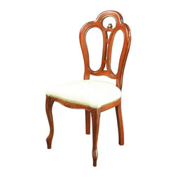 EuroLux Home - Consigned New Rococo Dining Chair Italy Ivory Damask - Product Details