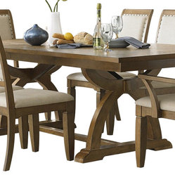 Liberty Furniture Town & Country 96x42 Rectangular Dining Table in Sand, Light W