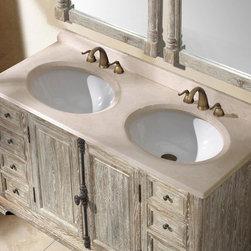 "59.25"" Bellante Double Sink  Vanity - Driftwood -"