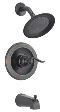 DELTA FAUCET - 2 GPM Tub and Shower Trim Monitor, Oil Rubbed Bronze - Monitor Scald-Guard valve keeps water temperature within +/-3 degree F. For use with multi choice universal rough valve body. Solid brass construction ensures quality and reliability.
