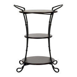 Safavieh - Jessica Side Table - It's the little black dress of decor: the Jessica Side Table. Crafted of solid birch wood with reclaimed look, its three layers are perfect for cocktails, photos and those gorgeous limited editions so eager to be displayed. With heirloom-styled iron frame for easy portability, Jessica is perfect alongside the sofa, tucked in a secret corner or next to a bed dressed to the nines.