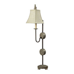 Dimond Lighting - Dimond Lighting 93-9254 Antoine 1 Light Table Lamps in Montauk Grey - Reproduction French Antique Hall Lamp