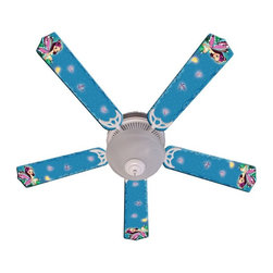 Ceiling Fan Designers - Ceiling Fan Designers Magical Fairy Indoor Ceiling Fan - 42FAN-IMA-MF - Shop for Ceiling Fans and Components from Hayneedle.com! A ceiling fan fit for a fairy princess the Ceiling Fan Designers Magical Fairy Indoor Ceiling Fan is just right for her room. It's a ceiling fan and light kit combo that comes in your choice of size: 42-inch with 4 blades or 52-inch with 5. The blades are reversible so if she outgrows the fairy princess design it's a breeze to flip the blades to fresh white. Handy! It has a powerful yet quiet 120-volt 3-speed motor with easy switch for year-round comfort. The 42-inch fan includes a schoolhouse-style white glass shade and requires one 60-watt candelabra bulb (not included). The 52-inch fan has three alabaster glass shades and requires three 60-watt candelabra bulbs (included). Your ceiling fan includes a 15- to 30-year manufacturer's warranty (based on size).