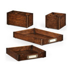 Jonathan Charles - New Jonathan Charles Letter Trays Dark Brown - Product Details