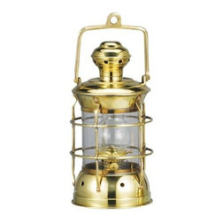 "10"" Brass Marine Lantern - The brass marine lantern is available in size 10""H. It is made of polished brass  is available in oil  electric. It will add a definite nautical touch to wherever it is placed and is a must have for those who appreciate high quality nautical decor. It makes a great gift, impressive decoration and will be admired by all those who love the sea."