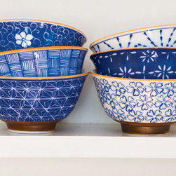 Mai Rice Bowl Set - Perfect for rice, perfect for ramen, perfect for soup on a rainy day — I love the shape of these bowls and the varying patterns and colors.