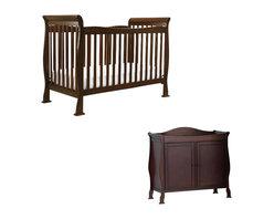 Da Vinci - DaVinci Reagan 4-in-1 Convertible Crib Nursery Set with Toddler Rail in Coffee - Da Vinci - Baby Crib Sets - M2801FK5152Fpkg