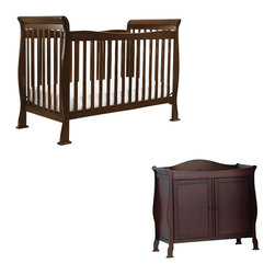 Da Vinci - DaVinci Reagan 4-in-1 Convertible Crib Nursery Set with Toddler Rail in Coffee - Da Vinci - Baby Crib Sets - M2801FK5152Fpkg