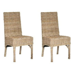Safavieh - Beacon Side Chair - Perfect for seaside or casual country escapes, the Beacon woven rattan side chair takes a familiar dining room form and breathes a relaxed new life into it. Crafted from rattan and sustainable mango wood, this natural, unfinished chair has an organic feel.
