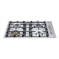 """Bertazzoni 30"""" Gas Cooktop, Stainless Steel 