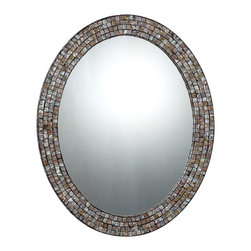 Quoizel - Quoizel QR1253 Mirror - This Quoizel Naturals mirror is beautiful yet understated.  Featuring a pen shell mosaic tile frame, it is natural elegance at its best.