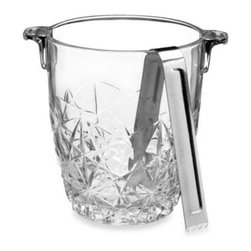 Bormioli - Bormioli Rocco Dedalo Ice Bucket with Tongs - This elegant glass ice bucket is perfect for weddings, parties, and any special occasion. The intricate cuts in the glass reflect the light for a dazzling way to store and display your ice.