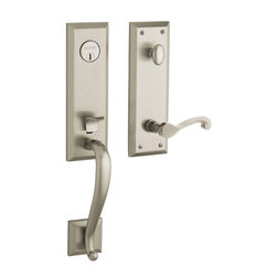 Baldwin Hardware - Baldwin Estate 85355 Stonegate Handleset, Satin Nickel - LH Keyed Entry - Finish: Satin Nickel (150)