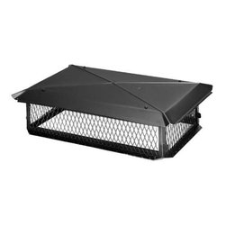 "HY-C Company BBT1741K 17 x 41 Black BigTop Multi-Flue Cover - HYC Black Multi-Flue Chimney Cap BBT1741KDProduct Features  * Heavy Duty Welded Construction * 24 Gauge Removable Hood for Easy Cleaning * Hood Attaches to Base with Weld Bolts and Nuts, No Chance of Stripping Out Threaded Holes * Scalloped Corners and Roll Formed Edges Add to Style and Safety * KD (Knock Down) Caps Are Assembled at Factory Before Shipping to Assure Proper Fit of All Parts * Base Size is Screen Mesh Size * Tapmark Masonry Screws and 10.6 oz. Tube of Adhesive Included * Overall Outside Dimensions of Chimney Must Be 3? Larger (Length and Width) Than Base Size For Proper Fit * Warranty: 304 Stainless Steel - Lifetime; Galvanized Steel - 7 yearsBlack Multi-Flue Chimney CapSize: 17"" x 41"""