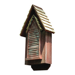 Heartwood - Victorian Bat House Redwood - This  bat  house  is  sure  to  delight  your  sense  of  style  by  this  Victorian  gem.  Made  with  horizontal  siding  and  hand-shingled  roof  with  copper  trim,  it  is  sure  to  compliment  any  home.  Divided  living  quarters  and  a  landing  pad  at  the  base  helps  to  accomodate  and  give  a  cozy  living.  Ready  to  mount  on  a  pole  or  building,  this  bat  house  is  sure  to  compliment  any  yard  or  home.          Product  Details:                  6x15x30              Available  in  grey  or  redwood              Handcrafted  in  USA  from  renewable,  FSC  certified  wood