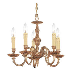 Crystorama - Crystorama Novella 1 Tier Chandelier in Olde Brass - Shown in picture: Ornate Cast Brass Chandelier; The Novella Collection�s Olde Brass finish and ornate designs make this European series a perfect fit for any traditionalist.
