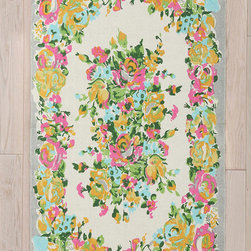Plum & Bow Amelia Rug - Full of summer flowers and bright colors, this rug would be beautiful in front of a sofa or the kitchen sink. It's the perfect way to bring a little of the outdoors in.