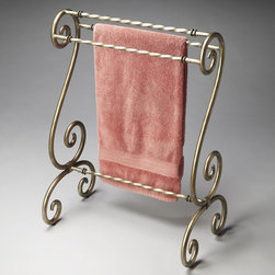Butler - Butler Hallmark Quilt Rack/Blanket Stand Multicolor - 1939030 - Shop for Caddies and Stands from Hayneedle.com! The majestically designed Butler Hallmark Quilt Rack/Blanket Stand is a fantastic way to display or organize anything from decorative quilts and blankets to oft-used bedspreads and bath towels. This curvaceous stand is crafted from brass-finished metal with sculpted horizontal rails for hanging multiple items.About Butler SpecialtyButler Specialty Company has been designing and manufacturing high-quality occasional and accent furniture since 1930. Each piece reflects Butler's dedication to enduring design exquisite craftsmanship and top-quality materials. This family-owned company is based in Chicago. They scour the globe in search of the finest materials and most efficient means of production reflecting their commitment to providing excellent quality at exceptional value.