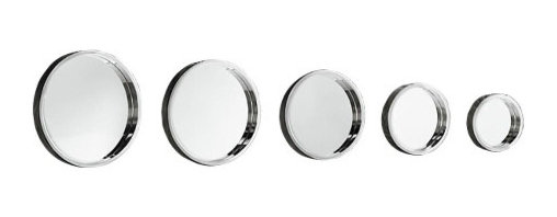 Porta round mirrors - Made of modern aluminum, glass, and wood, these chic mirrors have a keyhole on the back to mount them perfectly on your wall. Use them all for a sleek wall gallery!