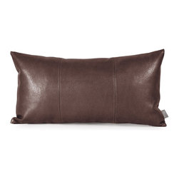 Howard Elliott - Avanti Pecan Kidney Pillow - Change up color themes or add pop to a simple sofa or bedding display by piling up the pillows in a multitude of colors, textures and patterns. This Avanti Pillow features a rich pecan brown color, textured grain and a paneled design to give the look of true leather.