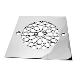 Designer Drains - Moresque No. 2 Shower Drain - Bring a constellation of beauty to your shower with this polished stainless steel drain. The new star of your bathroom just may be this stellar piece, which will look simply stunning in your tub. Drain sizes vary. Please measure carefully before ordering.