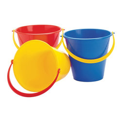 "The Original Toy Company - The Original Toy Company Kids Children Play Medium Bucket - Each bucket measures 7"" deep, choose of 3 different colors. Weight: 1 lbs."