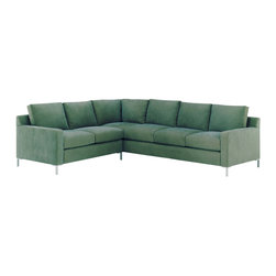Lazar Industries - Soho Sectional:  Corner Sofa and 3-Seater Sleeper Sofa in Grassland Hawaii - Soho Sectional:  Corner Sofa and Adjacent 3-Seater Sleeper Sofa:  Lazar's most popular and customizable stlye, the Soho offers modern luxury in a compact package.