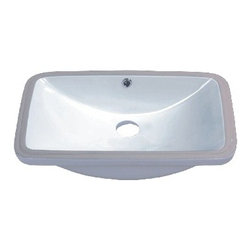 TCS Home Supplies - 24 Inch Porcelain Ceramic Vanity Undermount Bathroom Vessel Sink - Product Features: