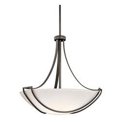 Kichler Lighting - Kichler Lighting 42654OZ Owego Transitional Inverted Pendant Light - Kichler Lighting 42654OZ Owego Transitional Inverted Pendant Light