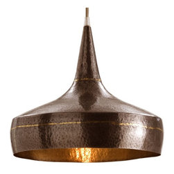 Arteriors Home - Arteriors Home Mason Wide Hammered Iron Pendant - Arteriors Home 42414 - Arteriors Home 42414 - The Mason Pendant from Arteriors offers a hammered iron design in a dark silver and brass finish. These hand painted details make each pendant fixture unique and creates a warm, casual and rustic feel to any home or commercial establishment.