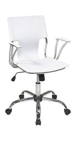 Avenue Six - Avenue Six Dorado Office Chair in White - Avenue Six - Office Chairs - DOR26WH - Avenue Six lets you find all the home furnishings to forge ahead with your sense of style and surround yourself with the things you love. The Dorado collection by Ave Six is for those who seek a more straightforward approach to creating the perfect room setting. This contemporary edgy and streamlined collection is sure to make a statement. The Dorado chair is sleek and simple while maintaining incredible high-performance design. Once assembled Avenue Six furniture becomes indistinguishable from assembled high end brands. The Dorado collection from Avenue six has it all: form and function combined with an incredibly stylish exterior.