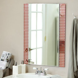 Decor Wonderland - Cirque Frameless Wall Mirror - 23.6W x 31.5H in. Multicolor - SSM635 - Shop for Bathroom Mirrors from Hayneedle.com! The Cirque Frameless Mirror is a beautiful contemporary piece that will be a lovely addition to your home decor. A special screened and acid wash process formed the squares that frame the large mirror giving this piece a truly unique look. Finely crafted with a durable double coated silver backing the strong 3/16 glass and metal ensures that this mirror will last for years. Arriving ready to hang the mounting hardware is included for your convenience. Decor Wonderland of USDecor Wonderland US sells a variety of living room and bedroom furniture mirrors lamps home office necessities and decorative accessories. Decor Wonderland strives to add variety to their selection so that every home is beautifully and perfectly decorated to suit their customer's unique tastes.
