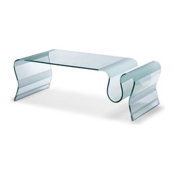 Zuo Modern - Zuo Discovery Coffee Table - Coffee Table belongs to Discovery Collection by Zuo Modern Flowing in form and function, the Discovery is made from single piece of bent semi-tempered glass with frosted bands. Coffee Table (1)