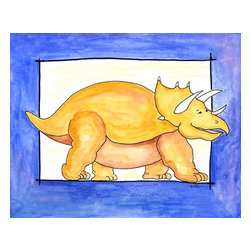 Oh How Cute Kids by Serena Bowman - Sweetie Pie, Ready To Hang Canvas Kid's Wall Decor, 11 X 14 - This silly, sweet picture is part of my dinosaurs series.